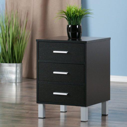 Black side cabinet