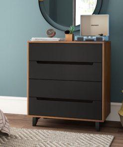bedside cabinet 4 drawer