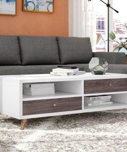 center table sleek white centre