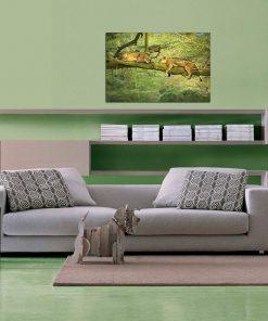 lion image art wall display