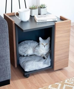 super cute cat fog house indoor outdoor