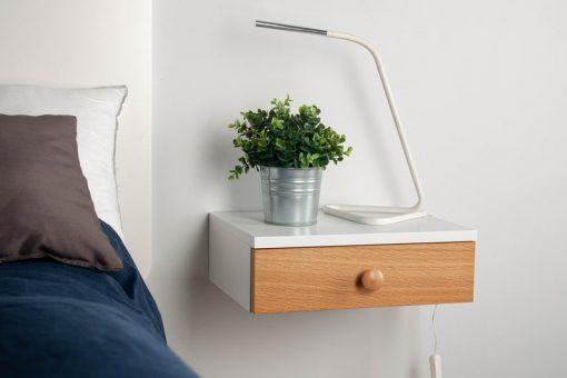 bedside wal mount cabinet drawer