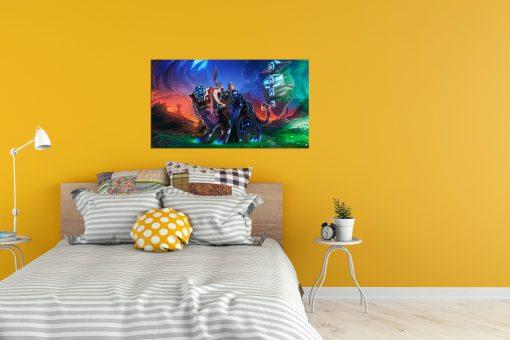 Luna Warrior art wall display