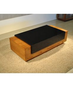 center table centre table coffee table black and brown sleek