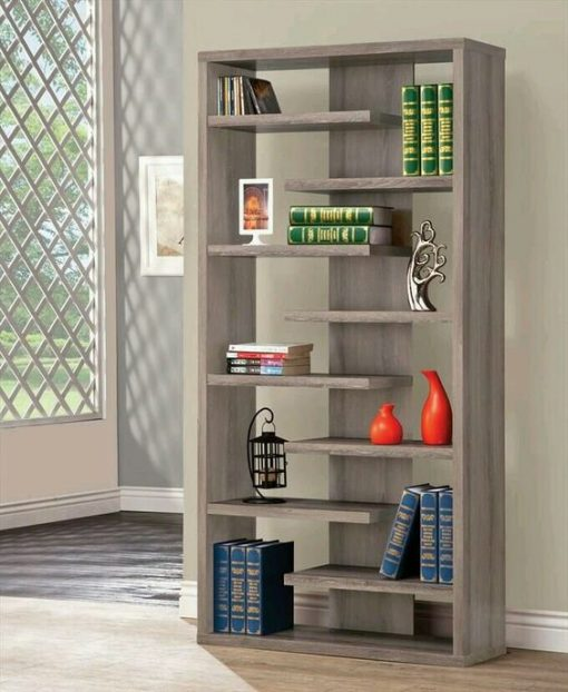 bookshelf storage cabinet hallway