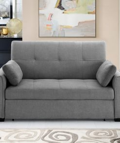 2 in 1 couch grey cute thrown pillows