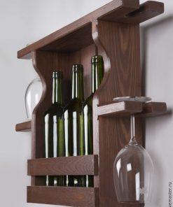 dark brown Wooden marple box storage rack