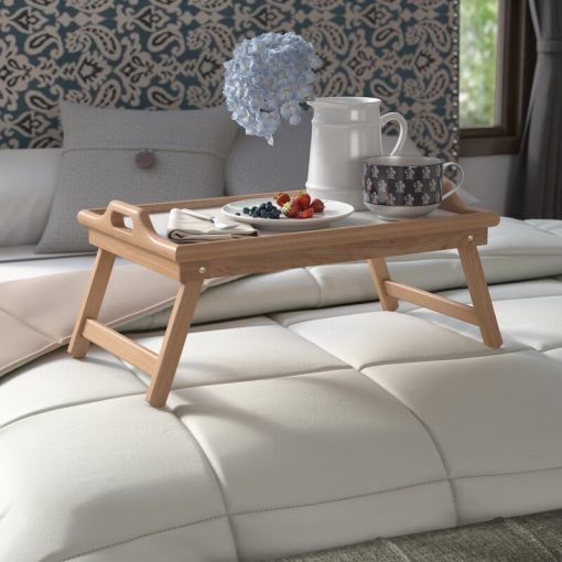 overbed table with breakfast serving tray bedtime breakfast