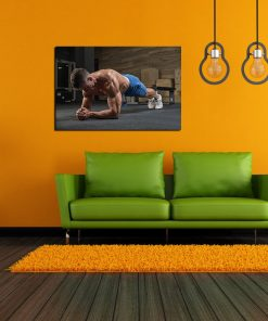 pressup gym men wall picture art display