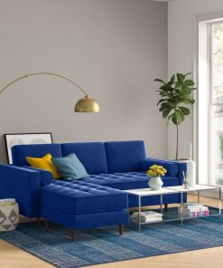 blue sofa couch 3 in 1 bed