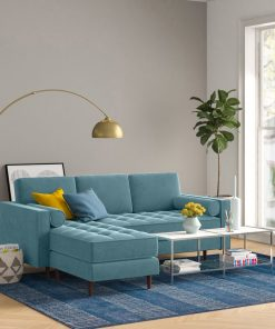 sea blue couch