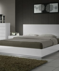 All white Adult luxury bed