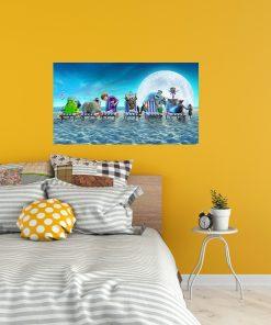 Monsters hotel image art display