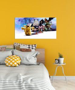 monsters art wall display