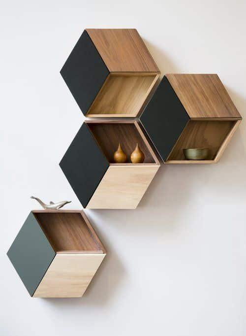 hexagon wall decor floating
