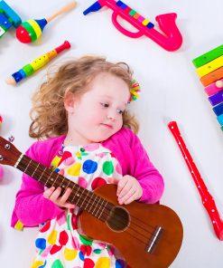 child guitar music instrument singer