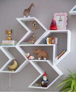 floating shelf white wall decor