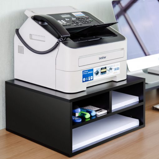 table top organizer printer stand
