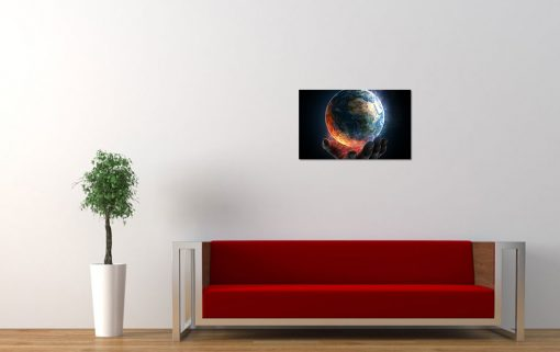 planet earth holding hands