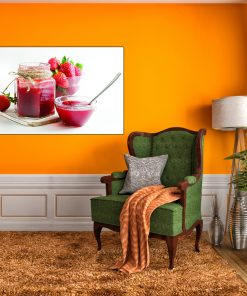 strawberry picture display for kicthen wall