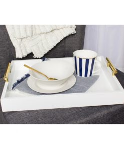 white rectangle serving tray
