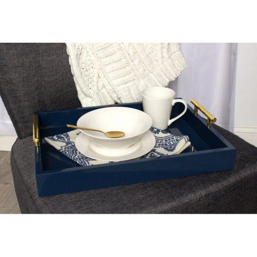 dark blue serving tray