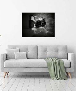 camera photography wall art display for studio