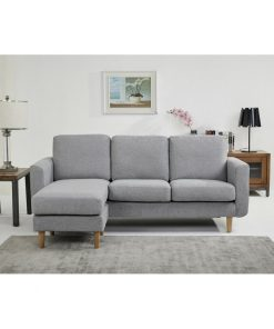 3 in 1 grey couch reversible