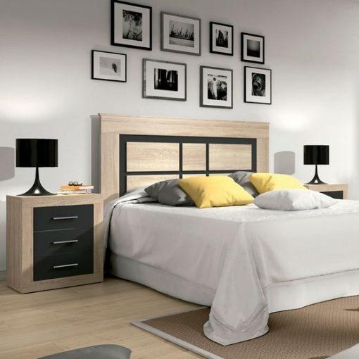 Simple cream bed black