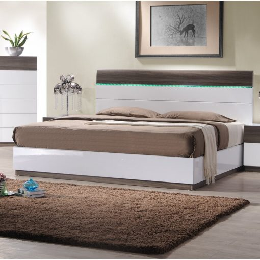 2020 Bed luxury with LED headboard cabinets