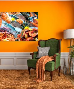 fishes sea foods kitchen wall decor display