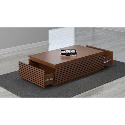 pure wooden natural rectangular wooden center table