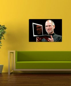 steve jobs ceo of apple picture wall display