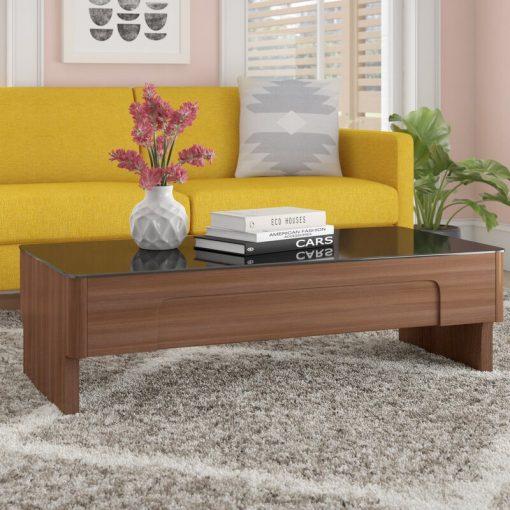 sleek elegant coffee table centre brown