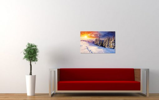 winter scenery nature snow living room wall display