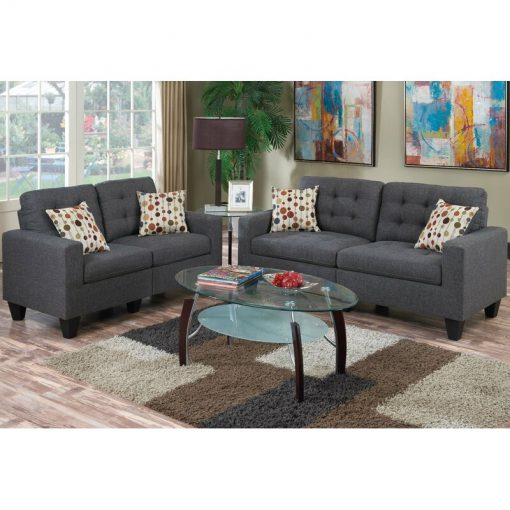 2 in 1 grey sofa couch