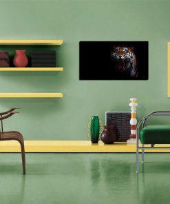 tiger image art wall disply