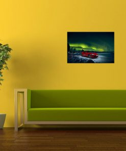 Toyota car art wall display
