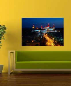 night castle europe wall art diaplay