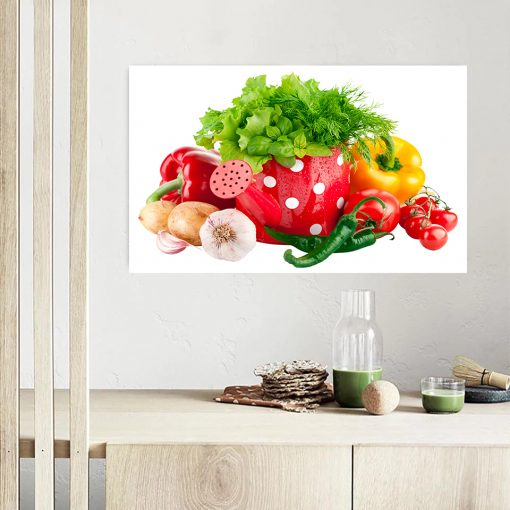 vegetables kitchen wall display