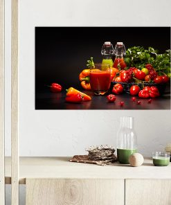 vegetables images wall kitchen wall display