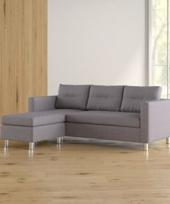 3 in 1 couch ash grey with metal legs
