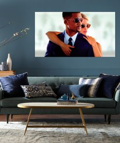 Will smith and a ladys image art wall display