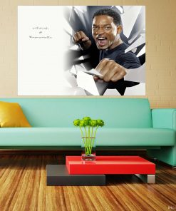 Will smith black and white image art wall display