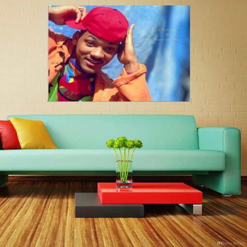 Will smith coloured image art wall display