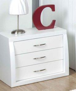 bedside cabinet white