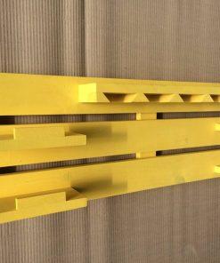 Yellow rectangular hand made crafted wine rack