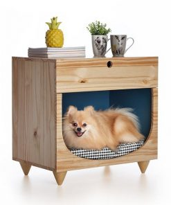 Wooden lightbrown Dual-purpose Small Dog/ Cat House.