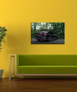 Black BMW art wall display