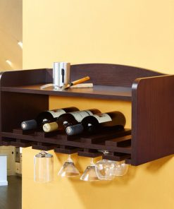 Small portable wall hanging wine rack and storage
